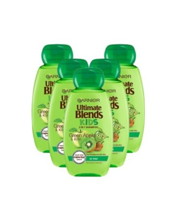Garnier Ultimate Blends Kids 2in1 Shampoo Green Apple & Kiwi 250ml