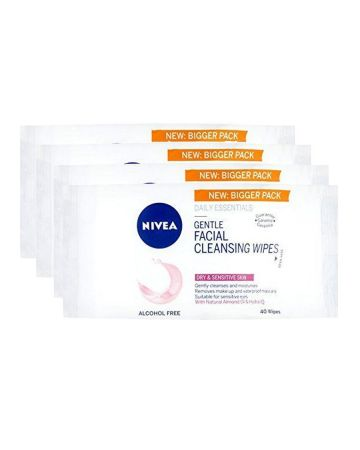 Nivea Gentle Face Cleansing Wipes Sensitive 40s