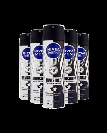 Nivea Mens Deodorant Black & White 150ml