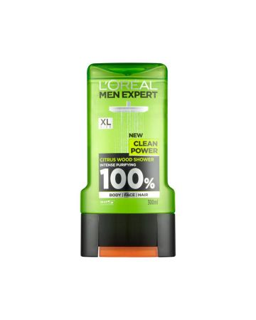 L'Oreal Mens Shower Gel Clean Power 300ml
