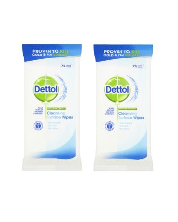 Dettol Antibacterial Surface Wipes 72s