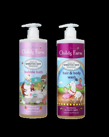Childs Farm Unicorn Bubble Bath And Hair & Body Wash Set 500ml