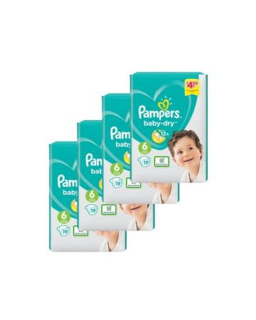 Pampers Baby Dry Size 6 Nappies 19s (pm £4.99)