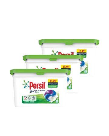 Persil 3in1 Liquid Capsules Bio 15s (pm £3.49)