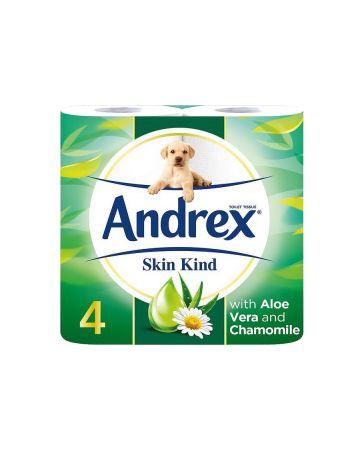 Andrex Skin Kind Aloe Vera Toilet Rolls 4s (PM £2.25)