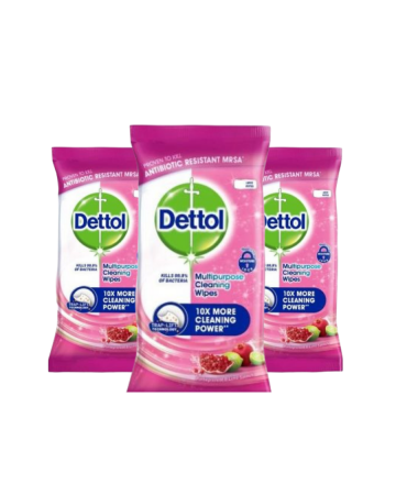 Dettol Multipurpose Cleaning Wipes Pomegranate 30s