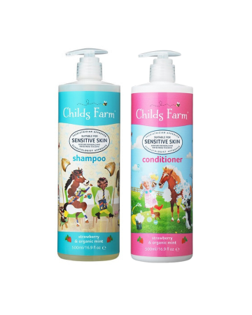 Childs Farm Shampoo & Conditioner set Strawberry & Organic Mint 500ml