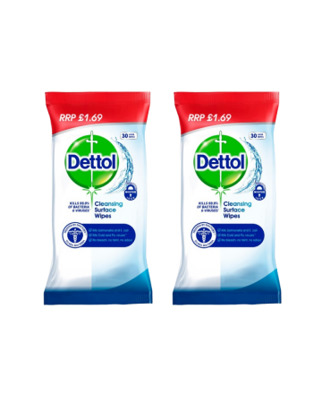 Dettol Cleansing Wipes 30s (pm £1.69)