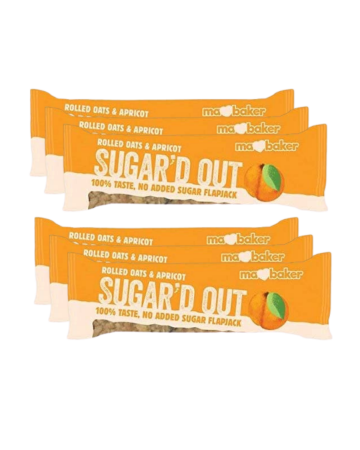 Ma Baker Sugar'd Out Apricot Flapjack Bar 50g