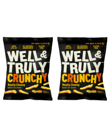 Well & Truly Crunchy Cheesy Corn Snacks 100g