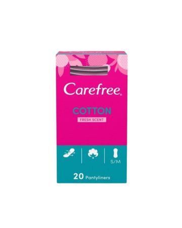 Carefree Fresh Scent Pantyliners with Cotton Extract 20s