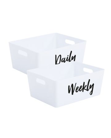 Daily And Weekly Storage Box