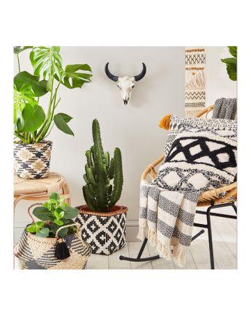 Sass & Belle Small Tribal Pattern Bamboo Storage Basket