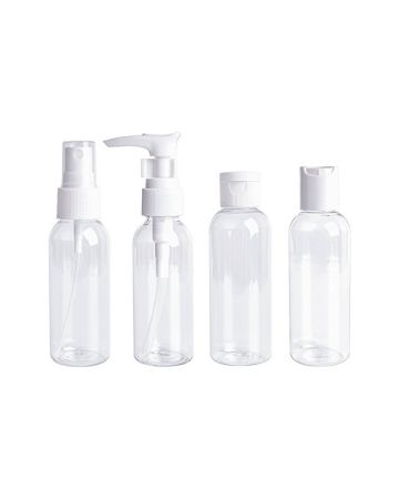 Clear Travel Bottles Set 100ml