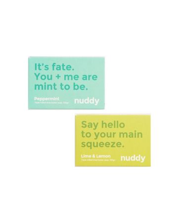 Nuddy Soaps Lime & Lemon And Peppermint 100g Pack Of 2