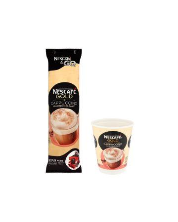 Nescafe & Go Gold Capuccino Unsweetened 8s