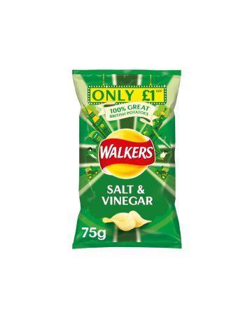 Walkers Crisps Salt & Vinegar 75g (PM £1) (B.B.E: 23.11.2019)
