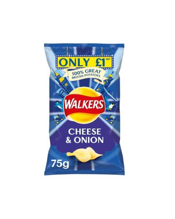 Walkers Crisps Cheese & Onion 75g (PM £1)