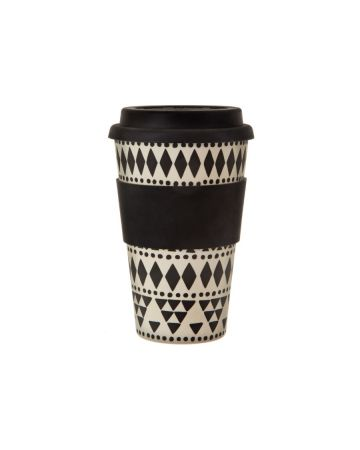 Sass & Belle Scandi Boho Bamboo Coffee Cup 400ml