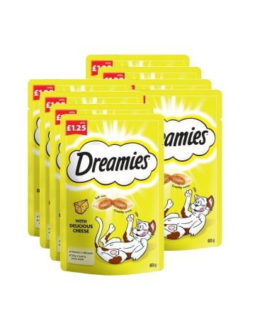 Dreamies Cat Treats Cheese 60g (pm £1.25)