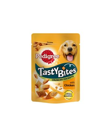 Pedigree Tasty Bites Crunchy Pockets Chicken 95g