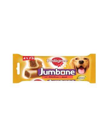 Pedigree Jumbone Medium Beef Chews x 2 (PM £1.75)