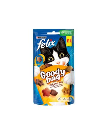 Felix Goody Bag Treats Original Mix 60g (PM £1.00)