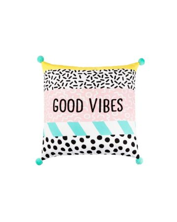 Sass & Belle Memphis Modern Good Vibes Cushion