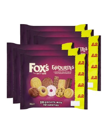Fox's Favourites Biscuit Variety Pack 365g (pm £2)