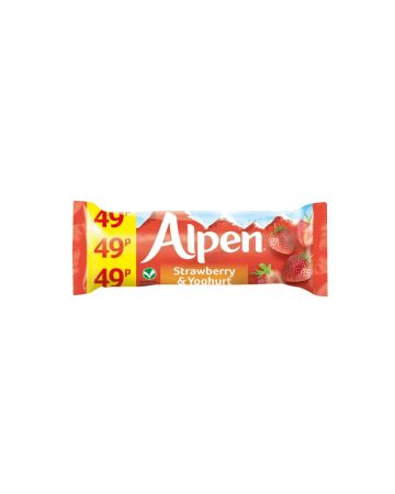 Alpen Strawberry & Yogurt Bars 29g (PM 49p)
