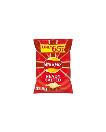 Walkers Crisps Ready Salted 32.5g (PM 65p) (BBE: 16.11.2019)