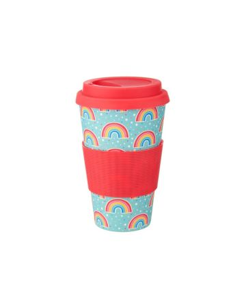 Sass & Belle Chasing Rainbows Bamboo Coffee Cup 400ml