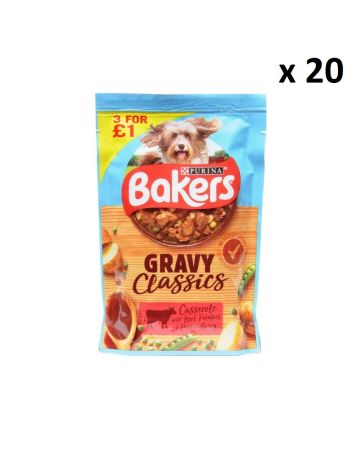 Bakers Gravy Classics Beef Casserole Pouches 100g (pm 3 For £1)