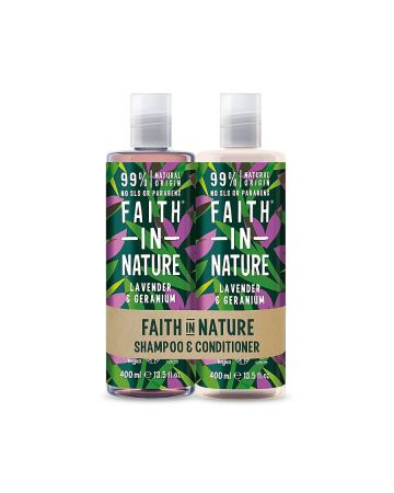 Faith In Nature Lavender & Geranium Shampoo & Conditioner 400ml