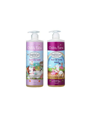 Childs Farm Unicorn Bubble Bath And Hair & Body Wash Set 500ml