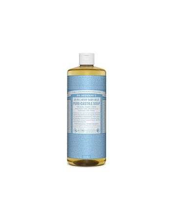 Dr Bronner's Baby Unscented Pure Castille Liquid Soap 946ml