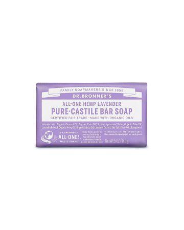 Dr Bronner's Lavender Pure Castille Bar Soap 140g