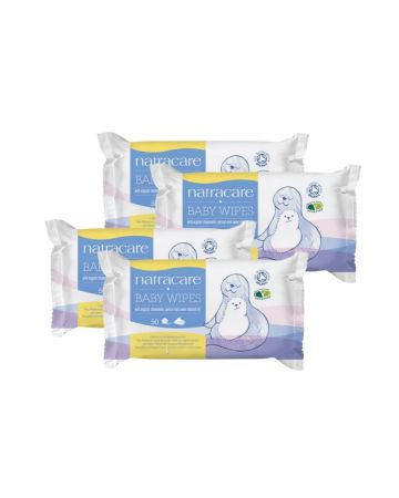 Natracare Organic Cotton Baby Wipes 50s