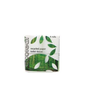 Ecoleaf Recycled Paper Toilet Tissue Rolls 4s