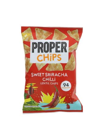 Properchips Sweet Sriracha Chilli Lentil Chips 20g (EXPIRY 30/09/2020)