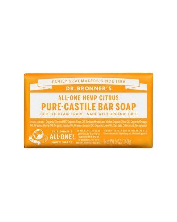 Dr Bronner's Citrus Pure Castile Bar Soap 140g
