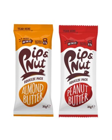 Pip & Nut Squeeze Pack Variety (4 x Almond Butter, 4 x Peanut Butter) 30g