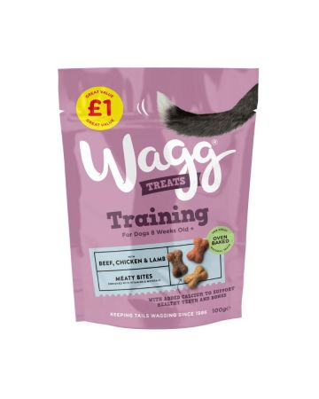 Wagg Training Dog Treats With Beef, Chicken & Lamb 100g (PM £1.00)
