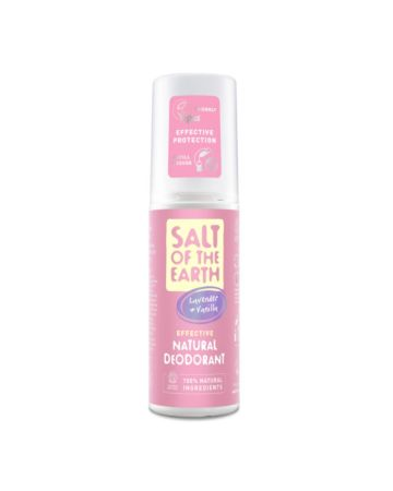 Salt Of The Earth Lavender & Vanilla Natural Deodorant Spray 100ml