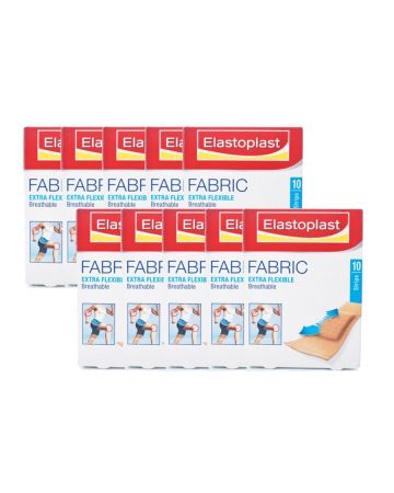 Elastoplast Fabric Strip Plasters 10s