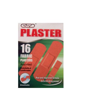 GSD Fabric Plasters Assorted 16s