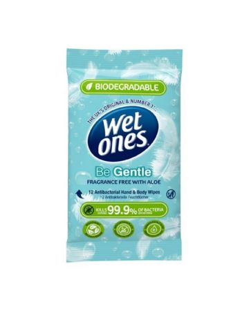 Wet One's Be Gentle Biodegradable Wipes 12s