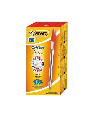 Bic Ballpoint Pens Medium Red 50s