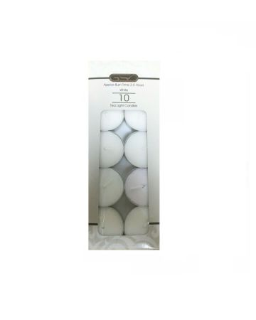 GSD White Tea Light Candles 10s