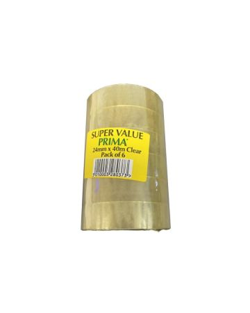 Super Value Prima Clear Adhesive Tape 1 Inch